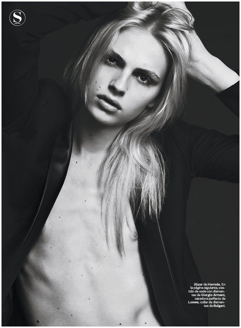 andrejs1 Andrej Pejic by Jonas Bresnan for <em>S Moda</em>