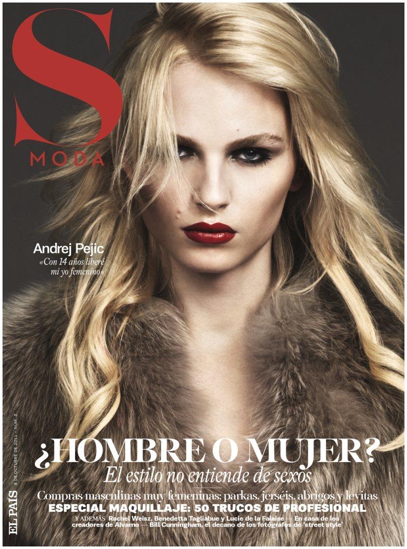 andrejs2 Andrej Pejic by Jonas Bresnan for <em>S Moda</em>