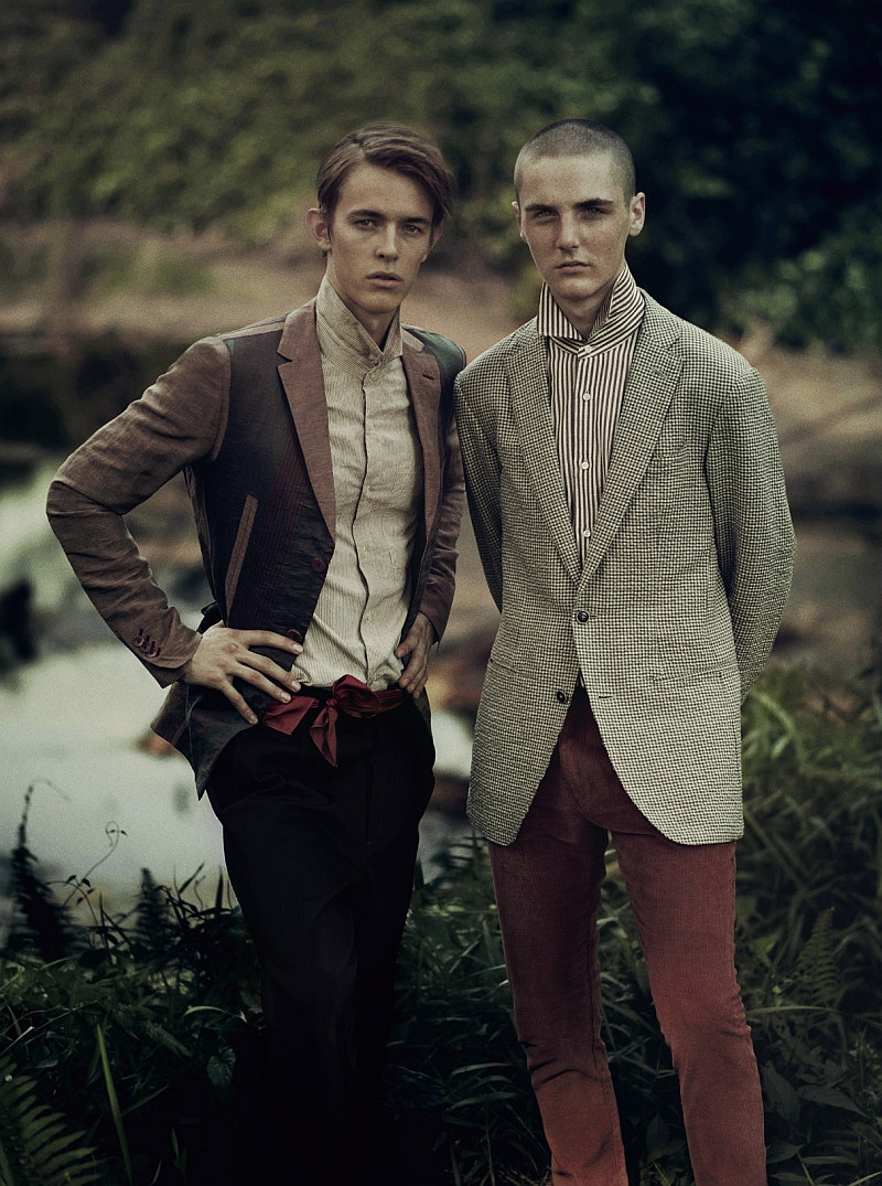 kirillandtom8 Kirill Vasilev & Tom K by Stefan Khoo for <em>Mens Folio</em>