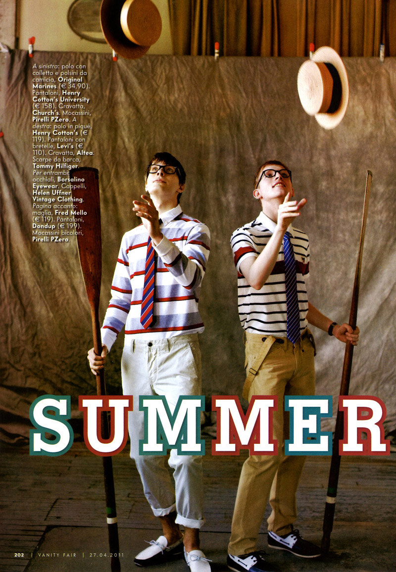 ryankoning1 Ryan Koning & Lasse Pedersen by Chris Craymer for <em>Vanity Fair Italia</em>