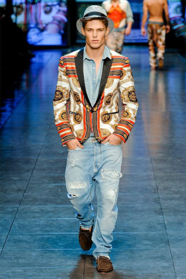 dgrunway6 D&G Spring 2012   Milan Fashion Week