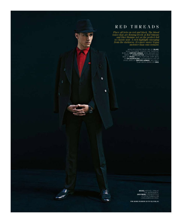 mitchellking5 Mitchell King by Adrian Meako for <em>GQ Australia</em>