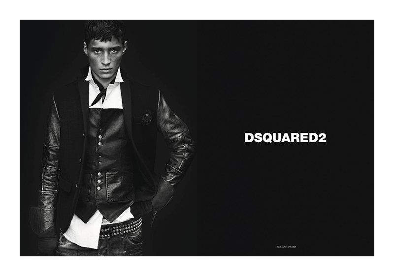 dsquaredcampaign1 Adrien Sahores, Bo Develius & Francisco Lachowski by Mert & Marcus for Dsquared² Fall 2011 Campaign