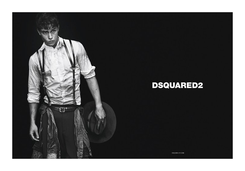 dsquaredcampaign3 Adrien Sahores, Bo Develius & Francisco Lachowski by Mert & Marcus for Dsquared² Fall 2011 Campaign
