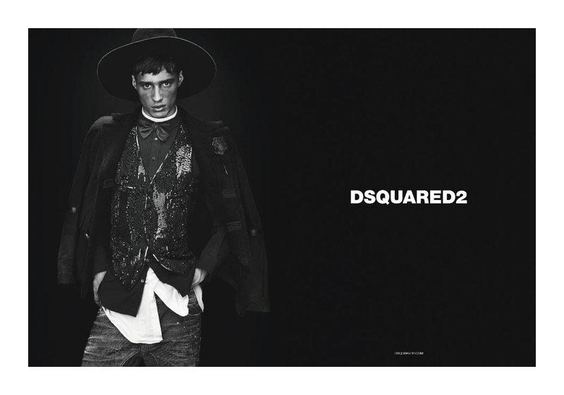 dsquaredcampaign4 Adrien Sahores, Bo Develius & Francisco Lachowski by Mert & Marcus for Dsquared² Fall 2011 Campaign