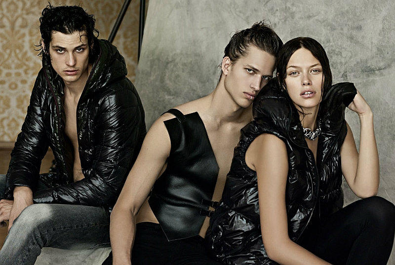 duvetica7 Bo Develius, Lucien Thomkins, Adrien Brunier, Julian Hennig & Ash Stymest by Alessandro Bencini for Duvetica Fall 2011 Campaign