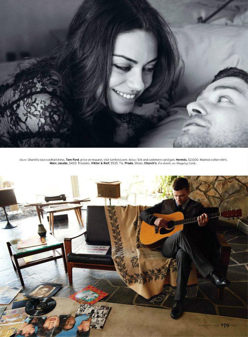 justintimberlake4 Mila Kunis by Carter Smith for <em>Elle US</em> August 2011