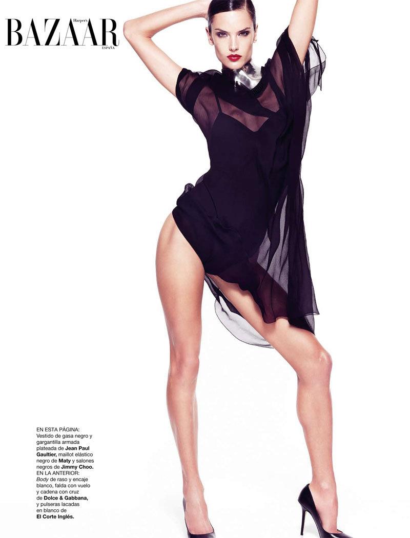 alessandra ambrosio4 Alessandra Ambrosio for <em>Harpers Bazaar Spain</em> February 2011 by Nico