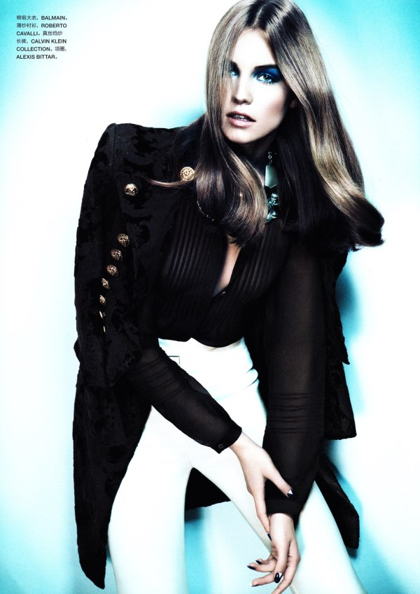 blue Julija Steponaviciute by Chad Pitman for <em>Numéro China</em> #5