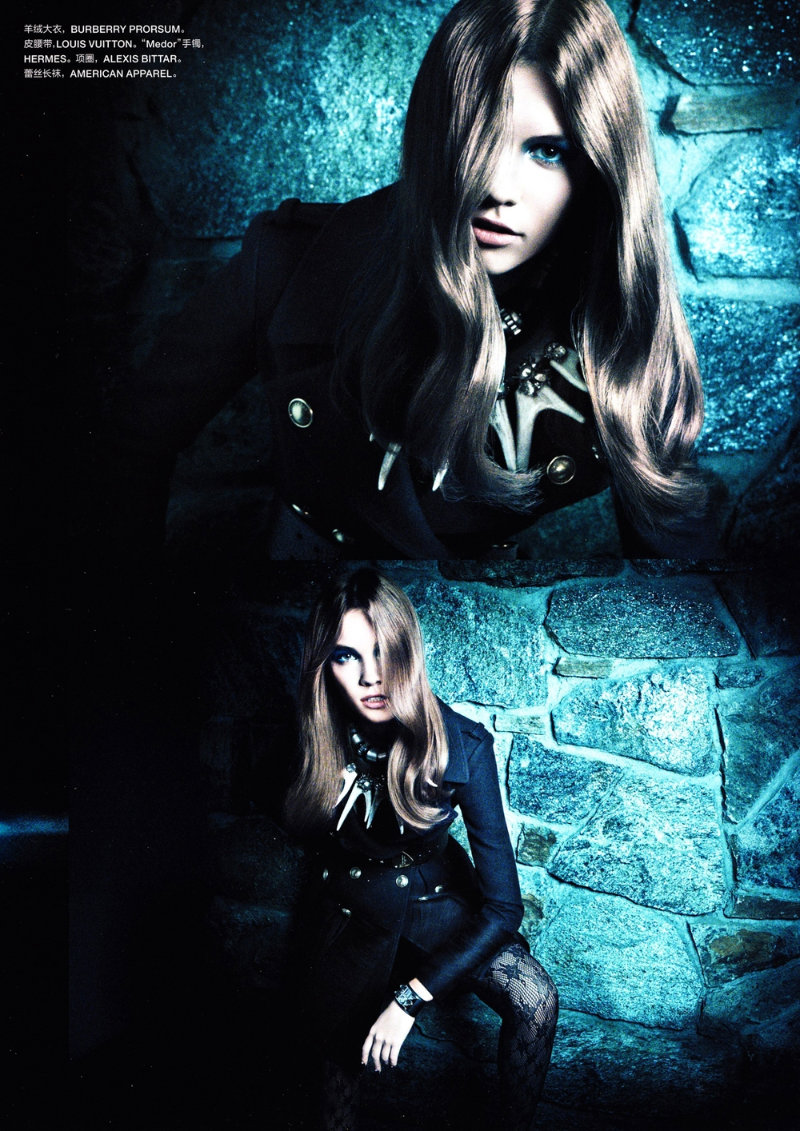 blue3 Julija Steponaviciute by Chad Pitman for <em>Numéro China</em> #5