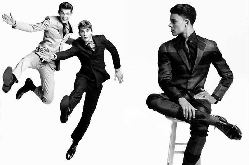 headliners15 16 Brandon Gray, Colten Scott, Justin Pinos & Devin Grant in <em>Headliners</em> by Richard Pier Petit for <em>Fashionisto Exclusive</em>