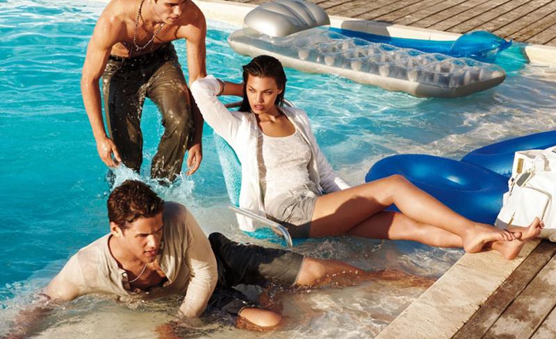 5 Antonio Navas, Caleb Halstead & Julian Schratter by Matthew Scrivens for Armani Exchange Summer 2011 Style Splash Campaign