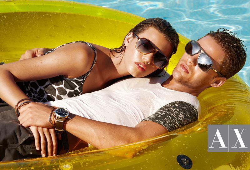 7 Antonio Navas, Caleb Halstead & Julian Schratter by Matthew Scrivens for Armani Exchange Summer 2011 Style Splash Campaign