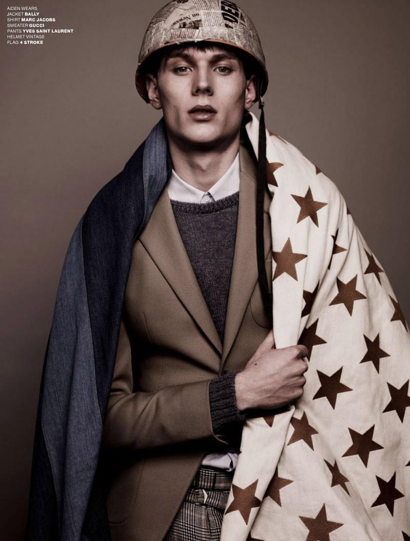 V2 Aiden Andrews, Ben Black, Charlie Westerberg, Christian Plauche, Jules Hamilton, Lawrence Stiers, Philip Kharabarin & RJ King by Sharif Hamza for <em>VMAN</em>