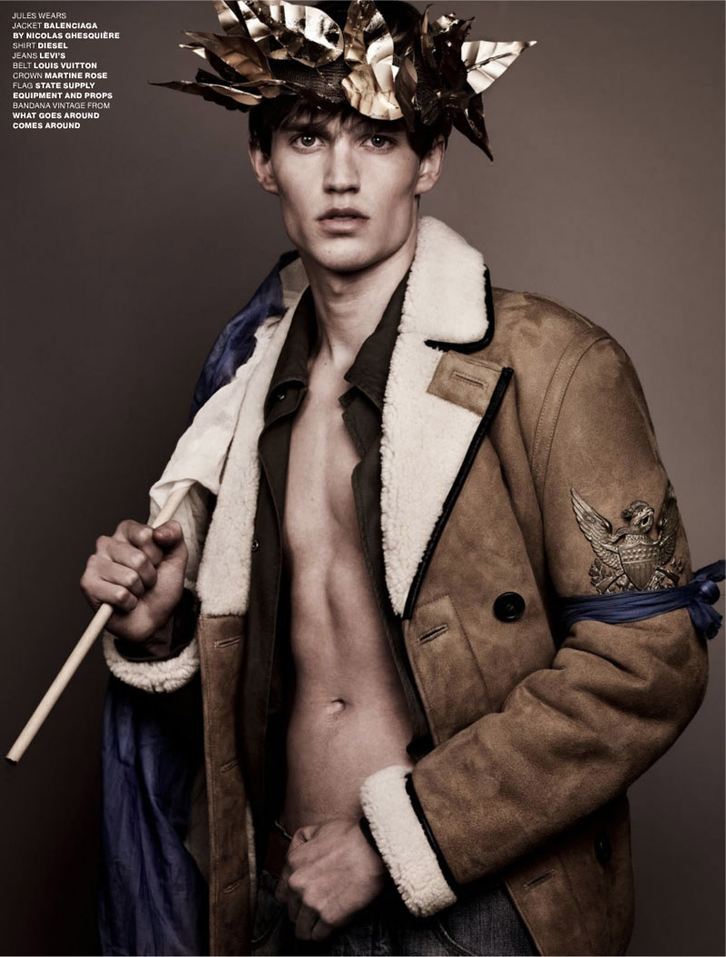 V4 Aiden Andrews, Ben Black, Charlie Westerberg, Christian Plauche, Jules Hamilton, Lawrence Stiers, Philip Kharabarin & RJ King by Sharif Hamza for <em>VMAN</em>
