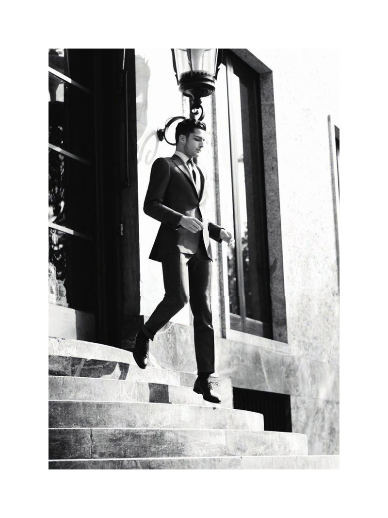 Janice2 Janice Fronimakis by Giovanni Gastel for Canali Fall 2011
