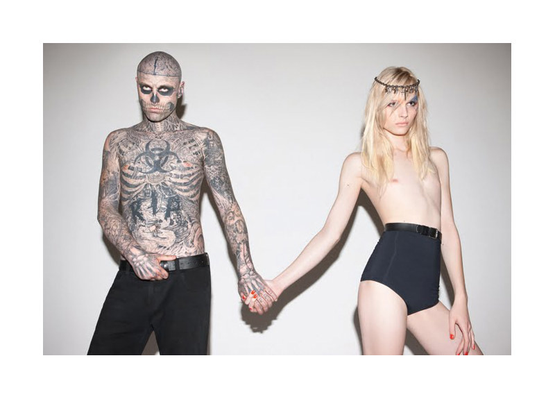 Auslander5 Andrej Pejic &amp; Rick Genest by Marcelo Krasilcic for Auslander Spring 2012 Campaign