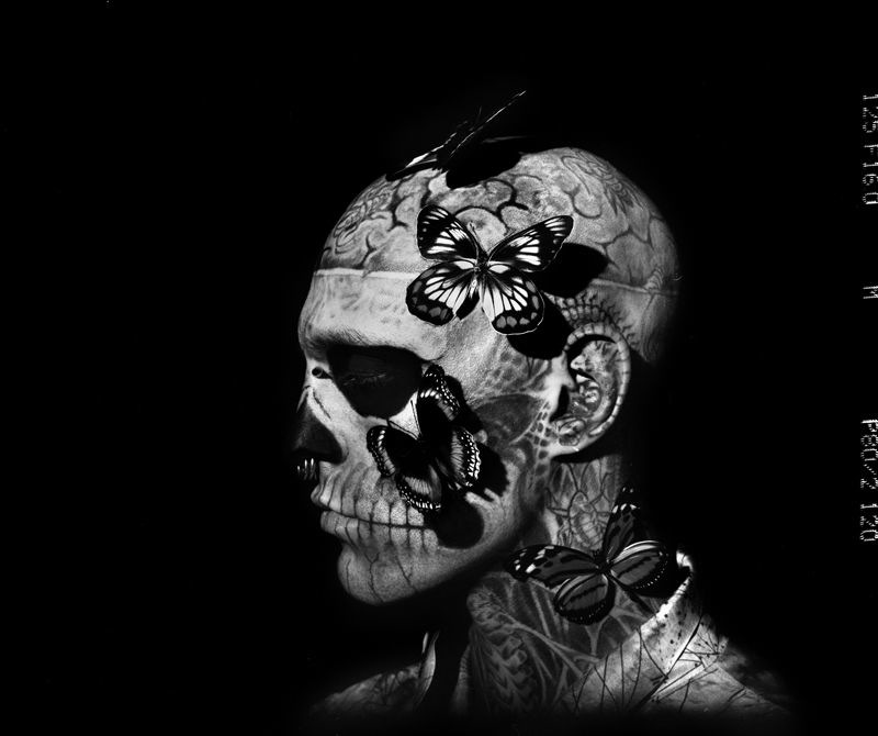ricoalinegq1 Rick Genest by Aline & Jacqueline for <em>GQ Italia</em> Outtakes