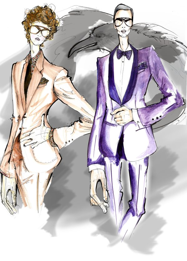 fordillustration Max Motta & Jon Kortajarena for Tom Ford Illustrated by Alfonso Gaitan