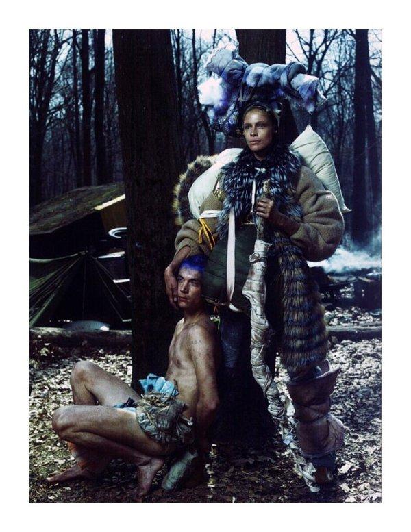 voguewilderness0 Eva Herzigova & Tanga Moreau by Steven Meisel in Wild is the Wind for <em>Vogue Italia</em> June 2010