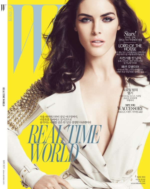 hilarycover Hilary Rhoda for <em>W Korea</em> May 2011 (Cover)