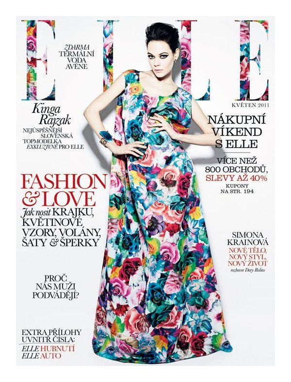 kingacover Kinga Rajzak for <em>Elle Czech</em> May 2011 (Cover)