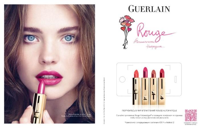 natalia Natalia Vodianova for Guerlain Rouge S/S 2011 Campaign
